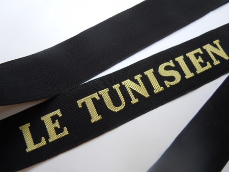 LE TUNISIEN 1945 RUBAN LEGENDE ORIGINAL CAP TALLY